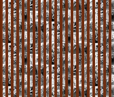 Victorian Men Pinstripe fabric by callioperosehandcarjones on Spoonflower - custom fabric