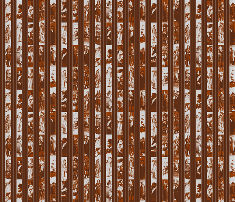 Victorian Men Pinstripe: Reduced Colour Brown fabric by callioperosehandcarjones on Spoonflower - custom fabric