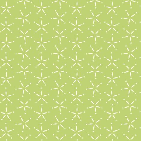 Stary - Green &  ivory fabric by jillbyers on Spoonflower - custom fabric