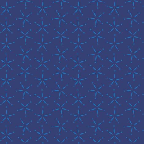 Stary -  Navy & Cornflower fabric by jillbyers on Spoonflower - custom fabric