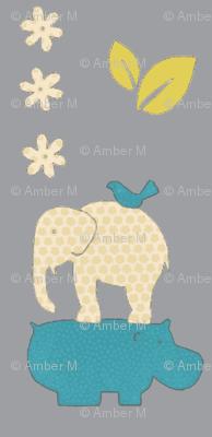 Elephant and hippo