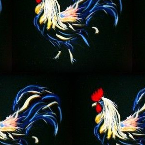 Abstract Painted Rooster