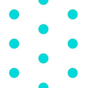 Lemon Blue-Aqua Big Polka Dot