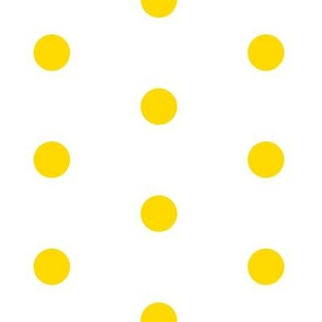 Lemon Yellow Big Polka Dot