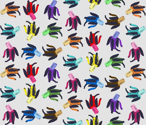bananas in colors fabric by susiprint on Spoonflower - custom fabric