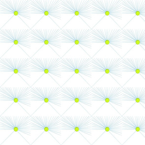 faux lime green buttons on puckered white background