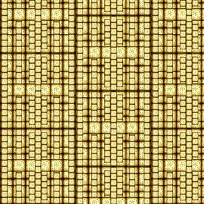 Antique Yellow Sproing Block Patternl