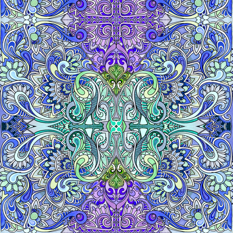Psychedelic Paisley Overload fabric by edsel2084 on Spoonflower - custom fabric