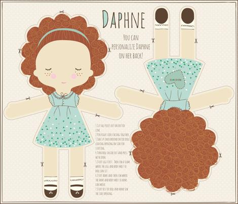 DAPHNE_RED_HAIR fabric by stacyiesthsu on Spoonflower - custom fabric