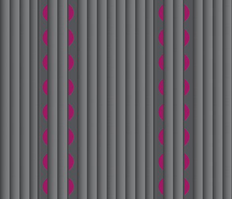 Gray Pleats (Vertical) with Sliced Cranberries fabric by anniedeb on Spoonflower - custom fabric