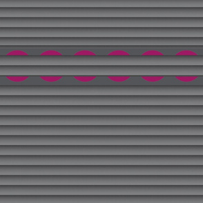 Gray Pleats (Horizontal) with Cranberry Halves