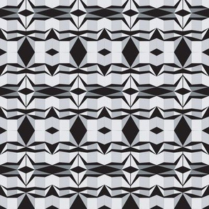Pattern with bended stripes in monochrome