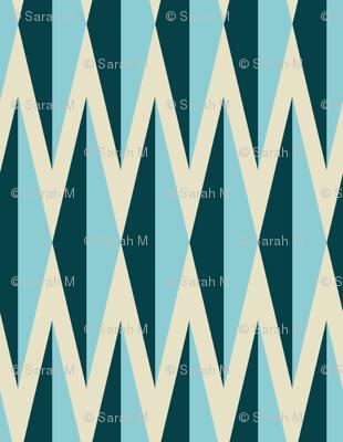 Diamelles Large - Blue and Linen