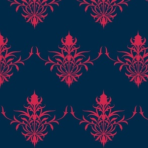 Stylized Thistle In Nautical
