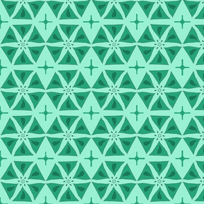 Teal Hexagonal Stars
