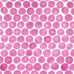 Fuschia Felt Dots