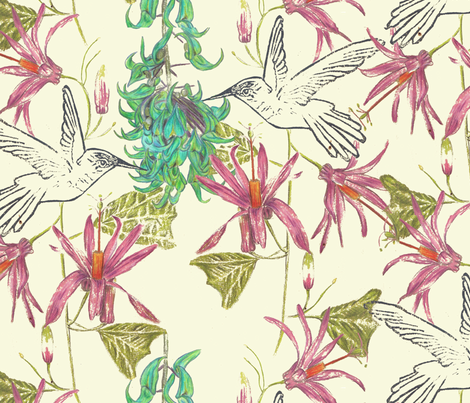 Jade_Vine_copyright_Ballistic_Owl_june_2013 fabric by ballistic_owl on Spoonflower - custom fabric