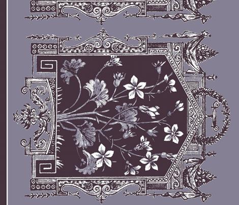 midsummer ginkgo border fabric by paragonstudios on Spoonflower - custom fabric