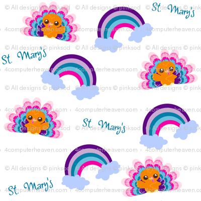 Happy Rainbow Turkey - St. Mary's School - © PinkSodaPop 4ComputerHeaven.com