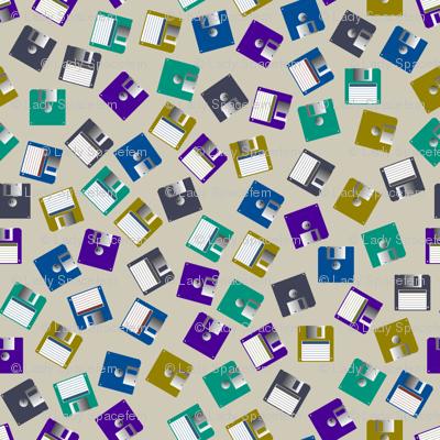 floppy disks scattered