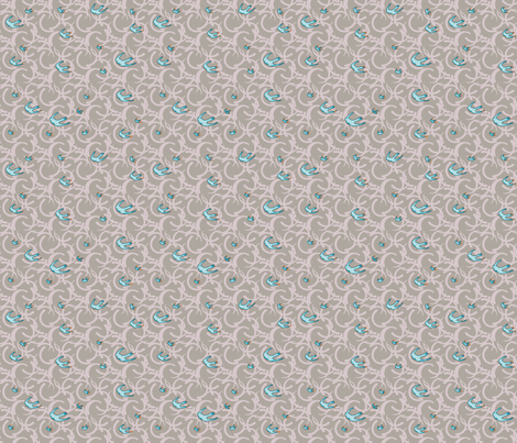 swallow song fabric by keweenawchris on Spoonflower - custom fabric