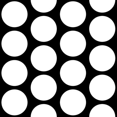 Big Style Dot on Black fabric by americanmom on Spoonflower - custom fabric
