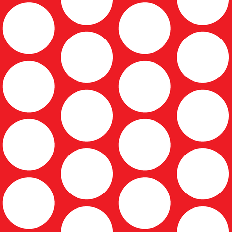 Big Dot on Red fabric by americanmom on Spoonflower - custom fabric