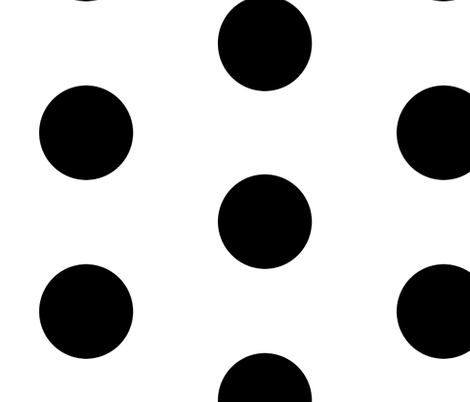 Giant Dot Black on White fabric by americanmom on Spoonflower - custom fabric