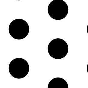 Giant Dot Black on White