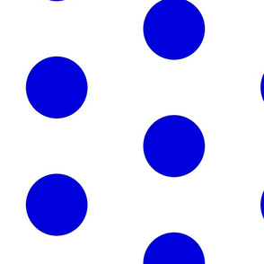 Giant Dot Blue on White