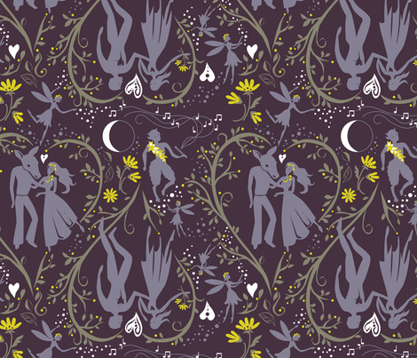 Midsummer_Magical_Love fabric by robinpickens on Spoonflower - custom fabric