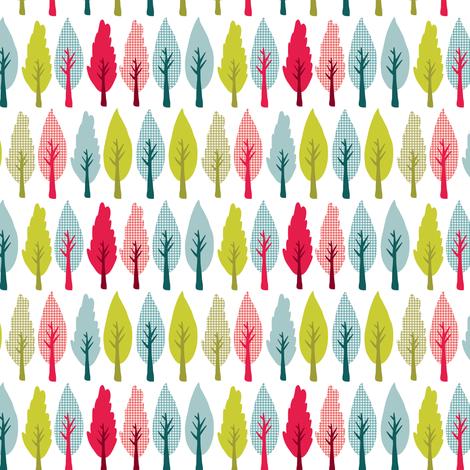 Market trees fabric by ebygomm on Spoonflower - custom fabric