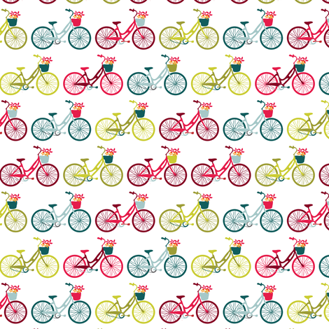 Bicycles fabric by ebygomm on Spoonflower - custom fabric