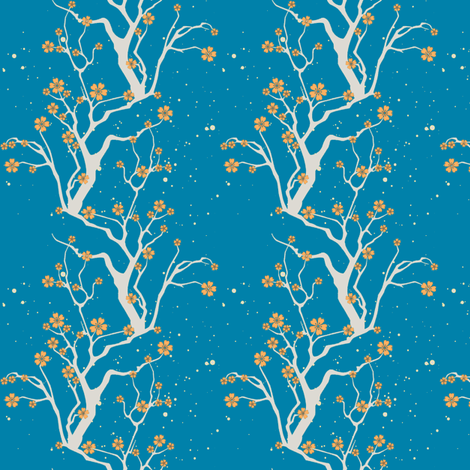moonlight branches fabric by keweenawchris on Spoonflower - custom fabric