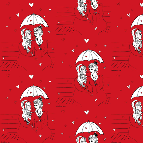 its_raining_love fabric by bring_in_the_platypus on Spoonflower - custom fabric