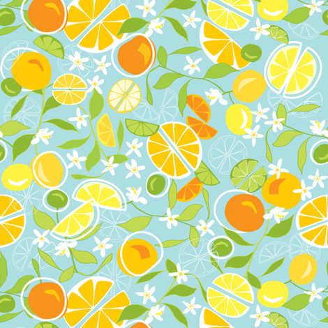 Citrus Squeeze fabric by mag-o on Spoonflower - custom fabric