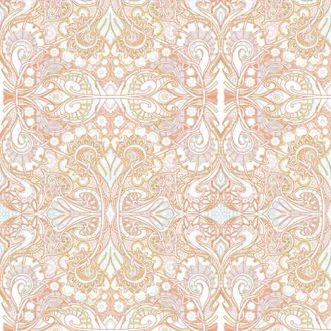 Sweethearts of the Pastel Rococo Orb fabric by edsel2084 on Spoonflower - custom fabric