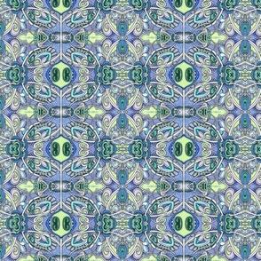 Blue Paisley Whatchamacallit Stripe