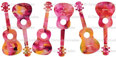 Ukulele Watercolor - Rose