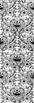 William Morris Trellis ~ Black & White