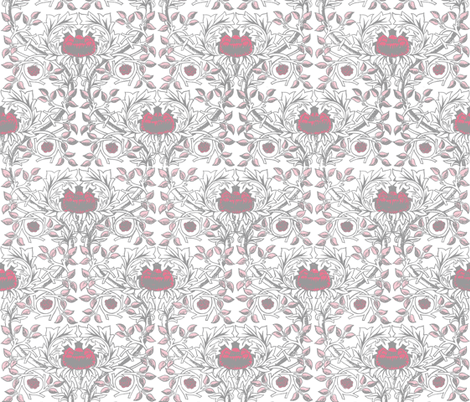 William Morris Trellis ~ Pink Dawn fabric by peacoquettedesigns on Spoonflower - custom fabric
