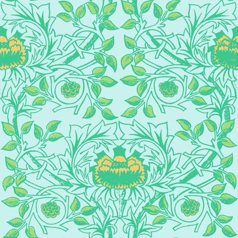 William Morris Trellis ~ Serenity II fabric by peacoquettedesigns on Spoonflower - custom fabric