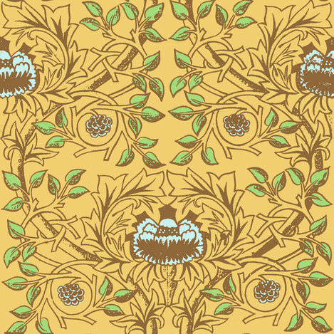 William Morris Trellis ~ Serenity fabric by peacoquettedesigns on Spoonflower - custom fabric