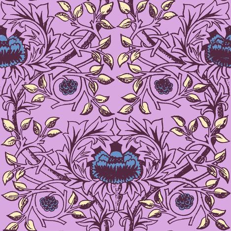 William Morris Trellis ~ Twilight II fabric by peacoquettedesigns on Spoonflower - custom fabric