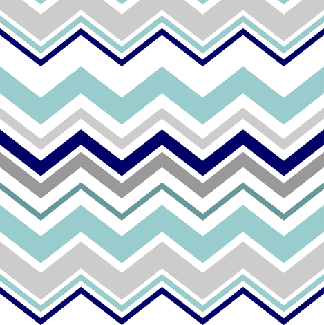 chevron_mint_grey fabric by lpt-workshop on Spoonflower - custom fabric