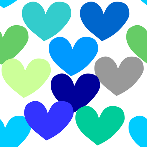 big_heart_blue_green fabric by lpt-workshop on Spoonflower - custom fabric