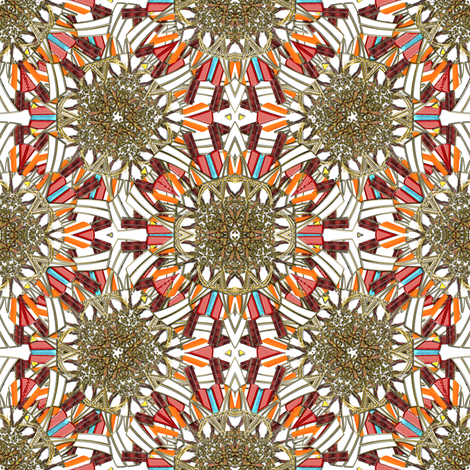Kaleidoscope Jewels and Gold fabric by eclectic_house on Spoonflower - custom fabric