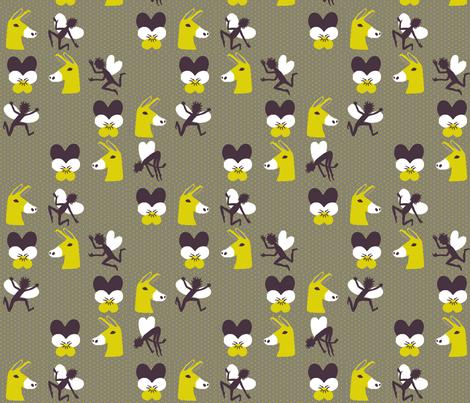 Love-in-idleness, fairies, and donkey heads fabric by mongiesama on Spoonflower - custom fabric