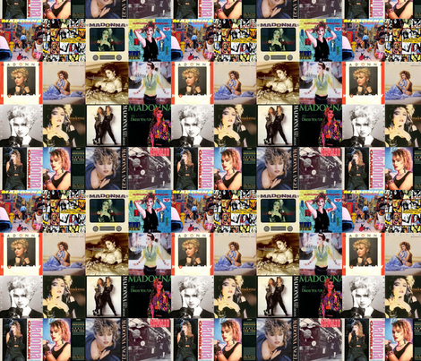 Madonna Collage  fabric by prettypoison on Spoonflower - custom fabric