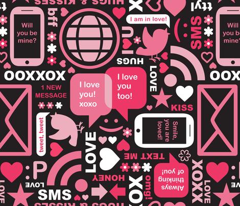 Social Inbox fabric by mariafaithgarcia on Spoonflower - custom fabric